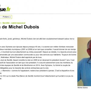 Hommage à notre ami Michel Dubois