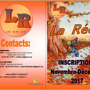 La Récré : les inscriptions de novembre et décembre sont ouvertes !