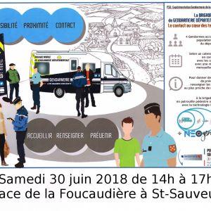 Rencontre de la brigade mobile de gendarmerie départementale