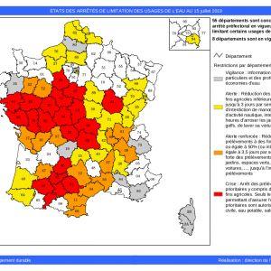 Mesures de restrictions de la consommation d'eau