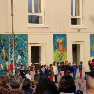 Inauguration des fresques de l'école maternelle