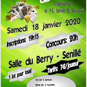 Concours de Belote du FC Senillé St-Sauveur