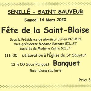 Fête de la St-Blaise 2020
