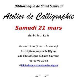 Atelier de Calligraphie >>> ANNULÉ