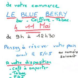 Réouverture du Blue Berry
