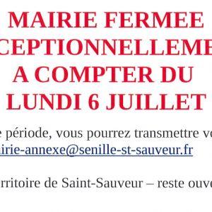 Fermeture Mairie-Annexe Senillé