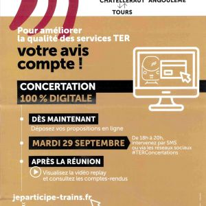 Concertation SNCF pour améliorer la qualité des services TER