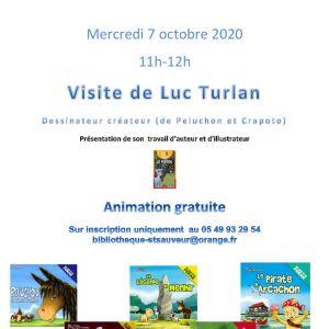 Visite de Luc TURLAN au Centre socio-culturel