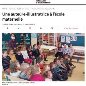 """Ella Charbon à l'école maternelle """"Les Petits Noisetiers"""""""