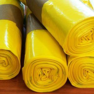 Distribution des sacs jaunes pour le tri des ordures ménagères