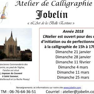 Calligraphie à l'atelier Jobelin