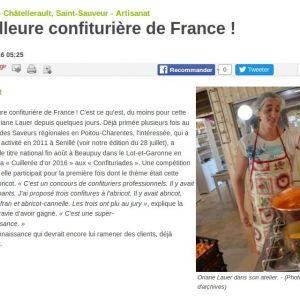 Meilleure confiturière de France !