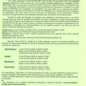 Avis d'enquête publique concernant le projet éolien des Brandes de l'Ozon >>> SUSPENDUE